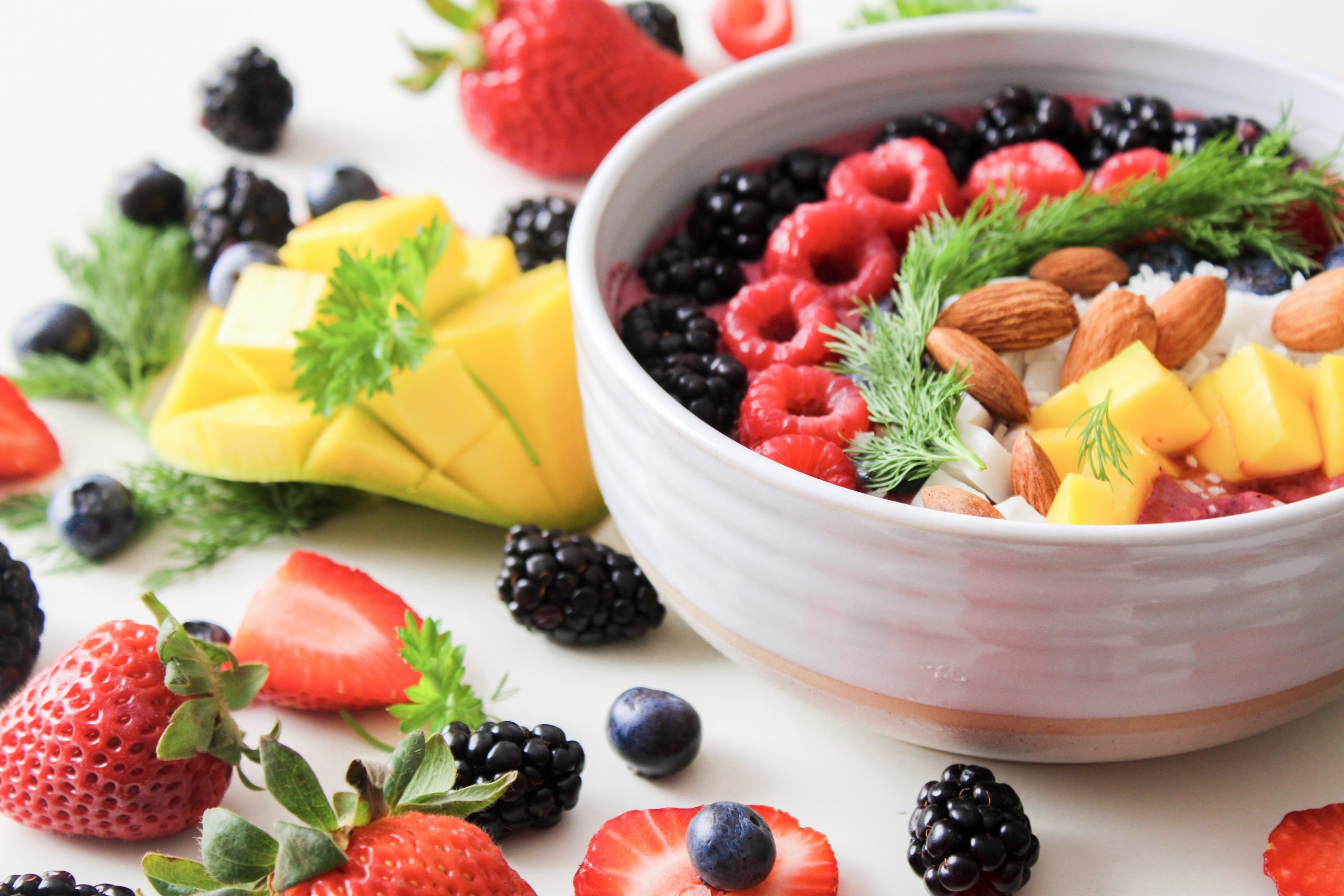 fruit salad in white ceramic bowl 1105166 scaled